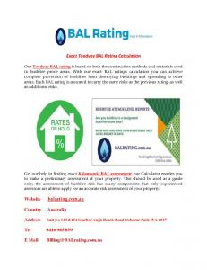 Best Bal Rating Service provider in Perth, WA