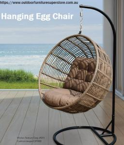 Enjoy the Natural Breeze with Our Hanging Egg Chairs