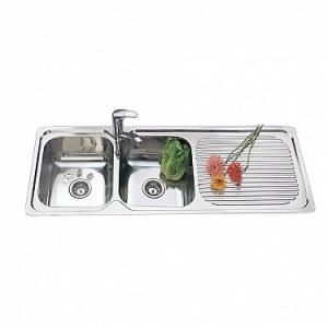 Stainless Steel Single & Double Bowl Kitchen Sink For Sale