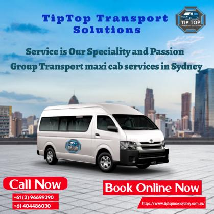 maxi cab group transfer Sydney | Sydney airport taxi service - TipTop Transport Solutions